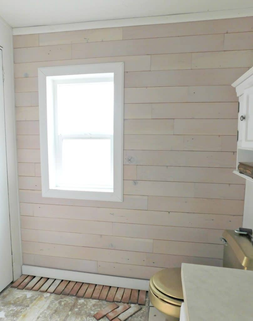 How to Install a Wood Plank Wall the Easy Way- DIY Shiplap