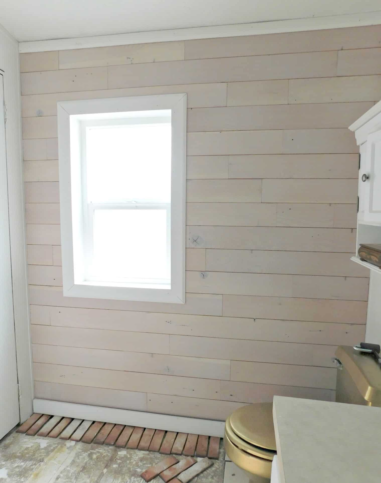 How To Install A Wood Plank Wall The Easy Way Diy Shiplap