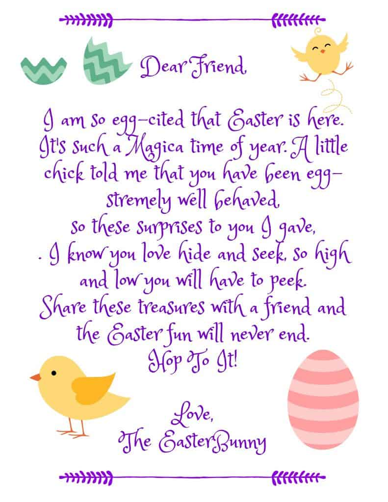 Obsessed image regarding letter from the easter bunny printable