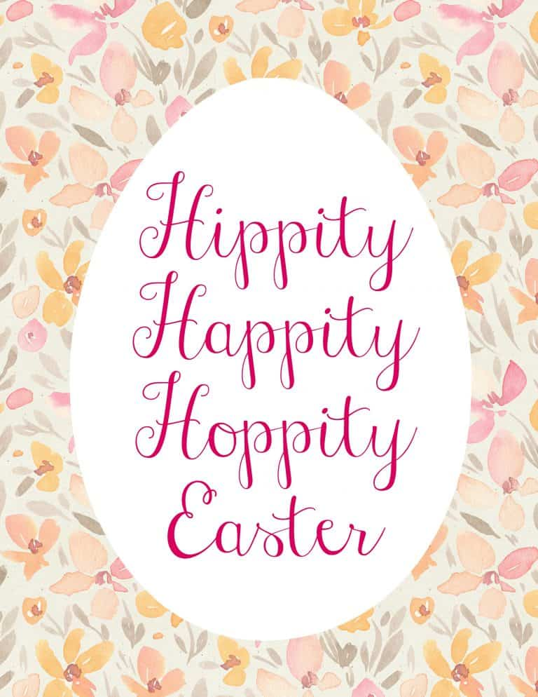 sign that reads hippity happity hoppity easter