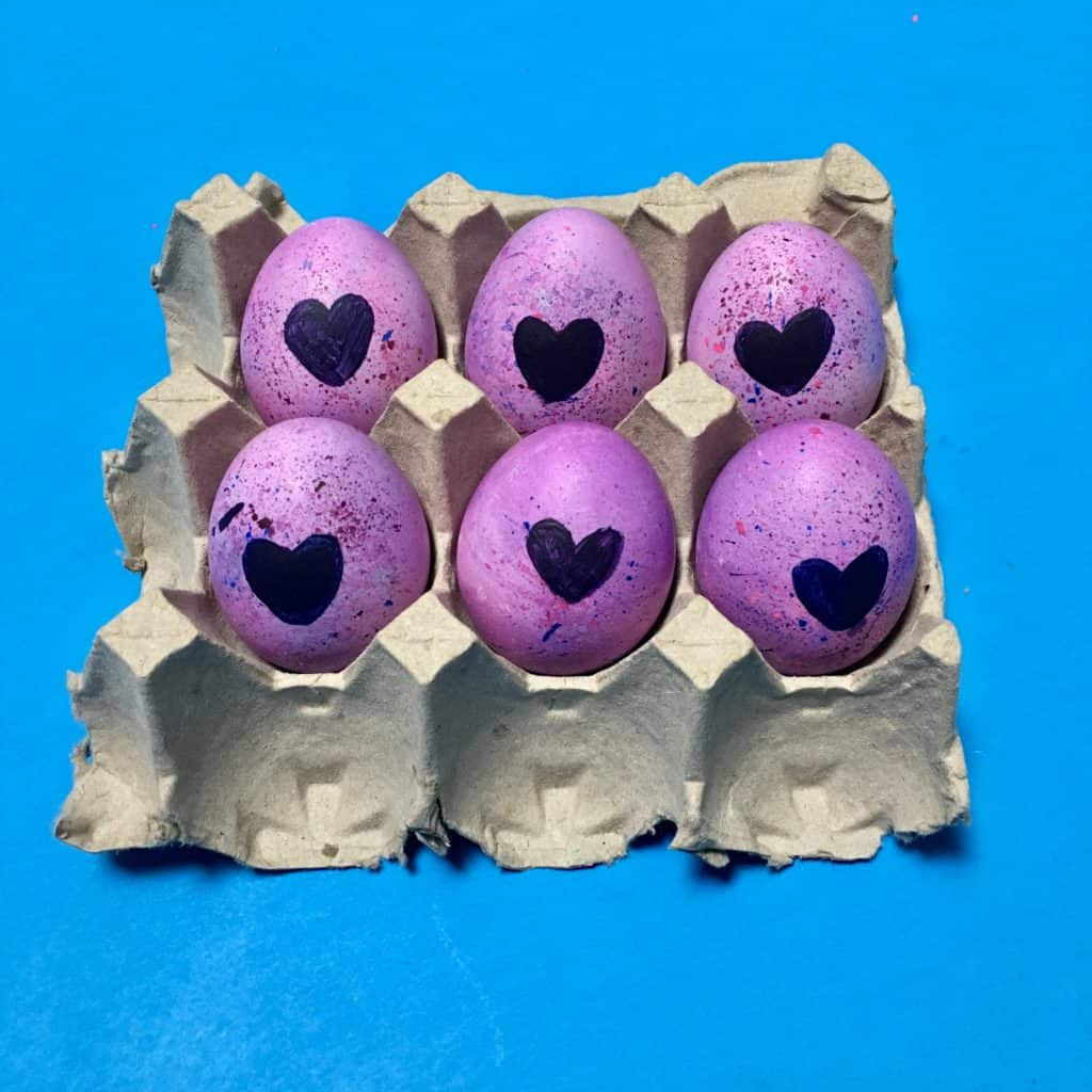Mini Hatchimals Easter Eggs in egg carton