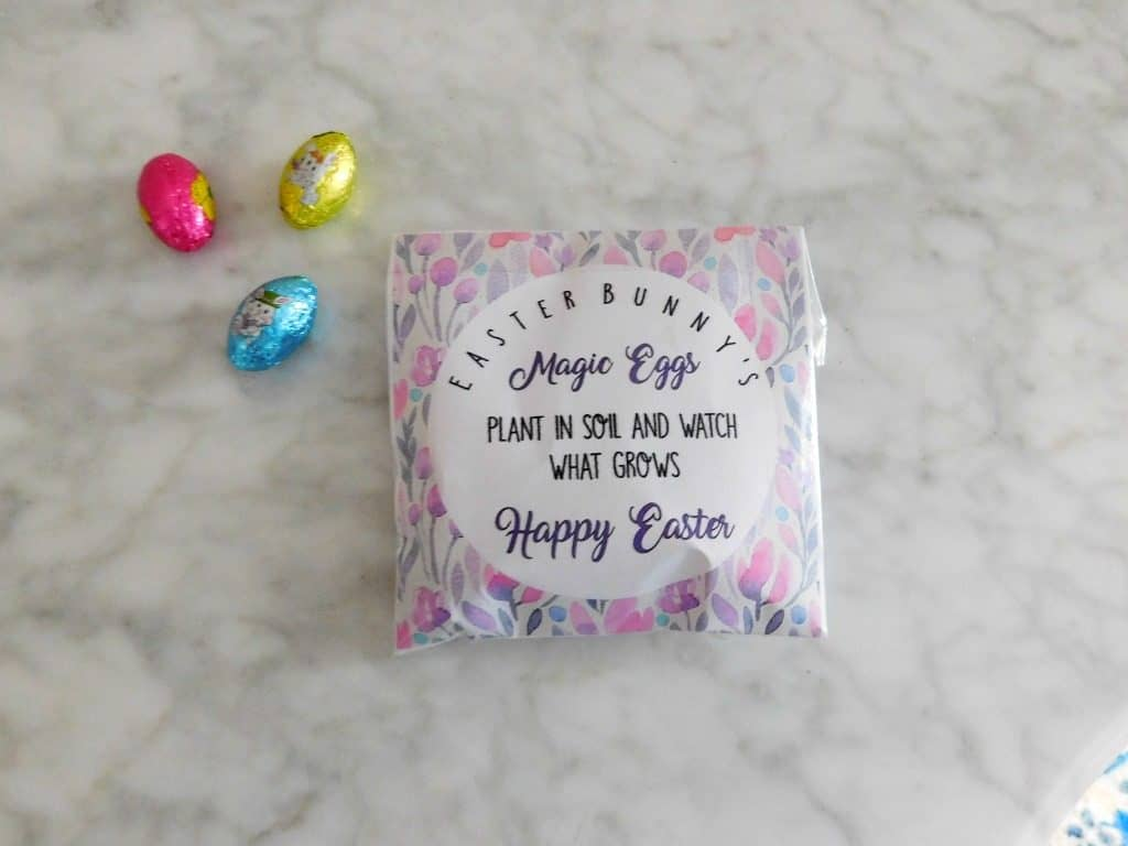 magic easter eggs printable on marble table