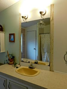 bathroom mirror before