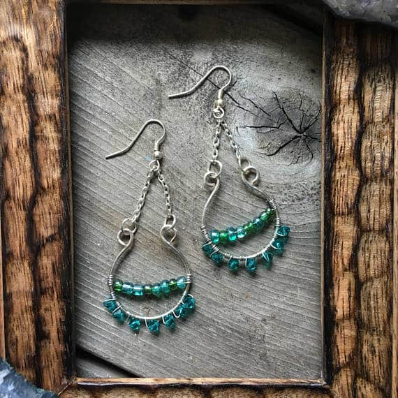 Popular things to make and sell online green earrings