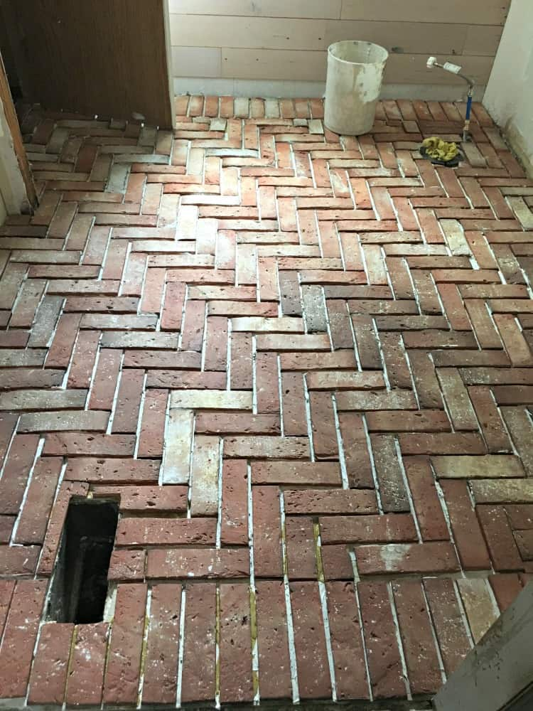 Brick Tile Floor Brick Veneer Bathroom And Kitchen