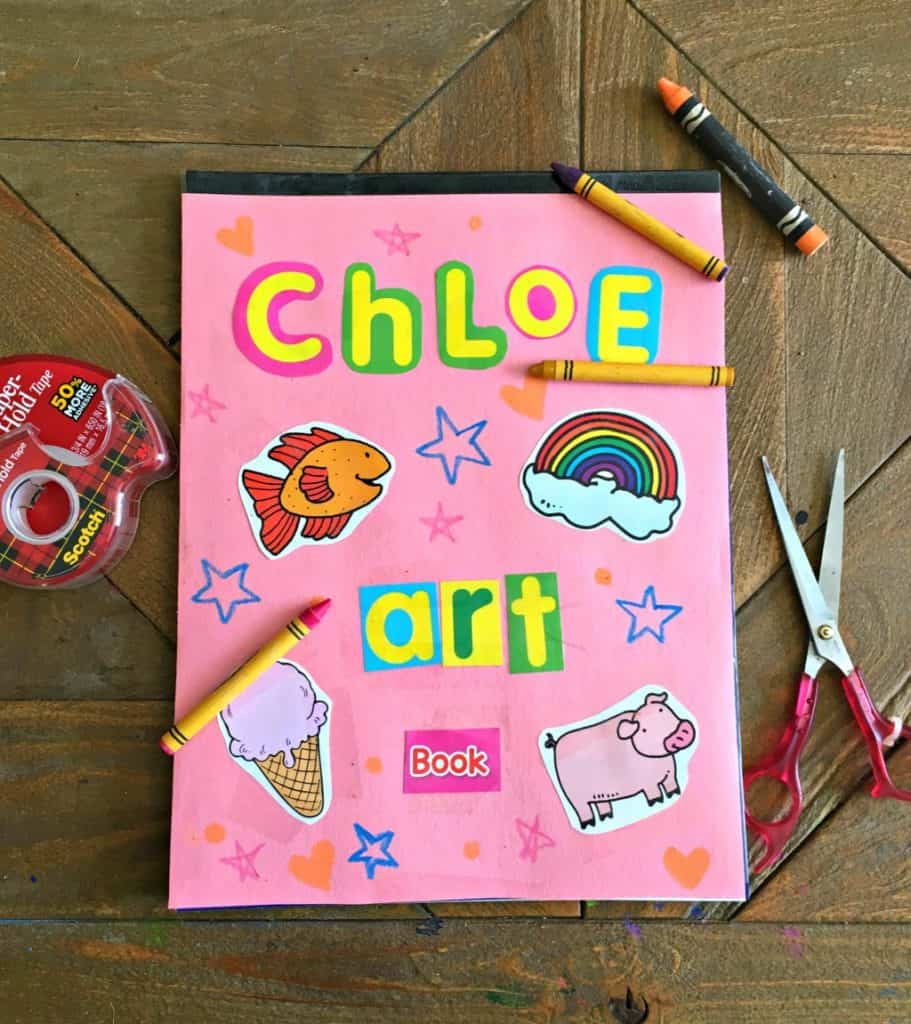 Kids Art Display Scrapbook
