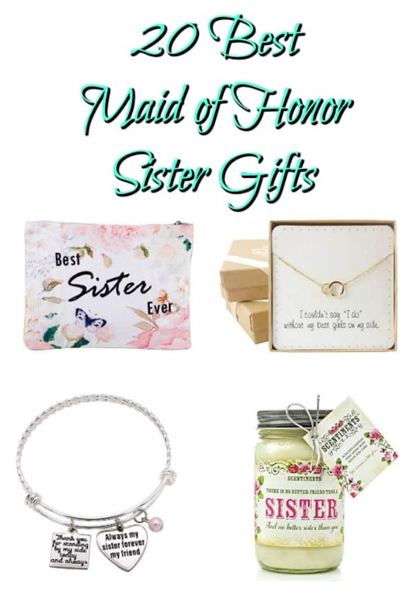 20 Best Sister Maid Of Honor Gifts Crafty Little Gnome