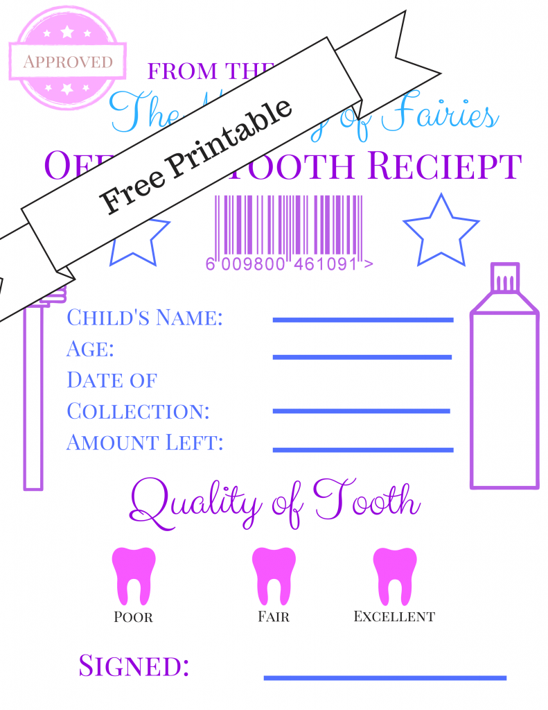 It's just an image of Transformative Tooth Fairy Printable