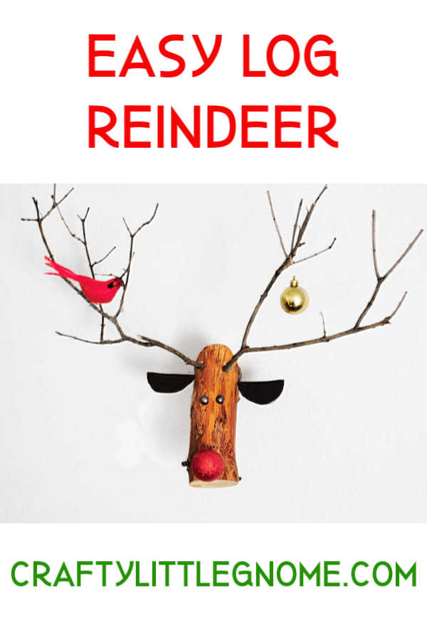 Log Reindeer Crafty Little Gnome Woodworking Pattern Plans Diy