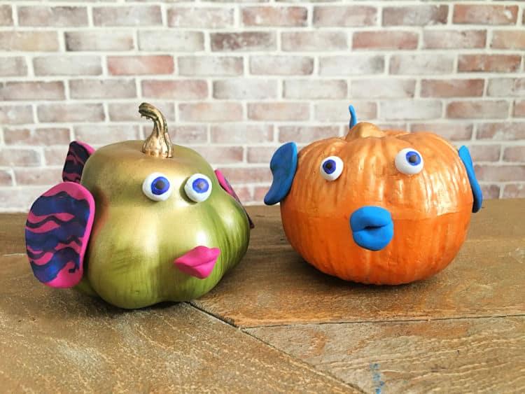 SeaWorld Fish Pumpkin Craft