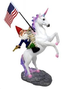 unicorn garden gnome