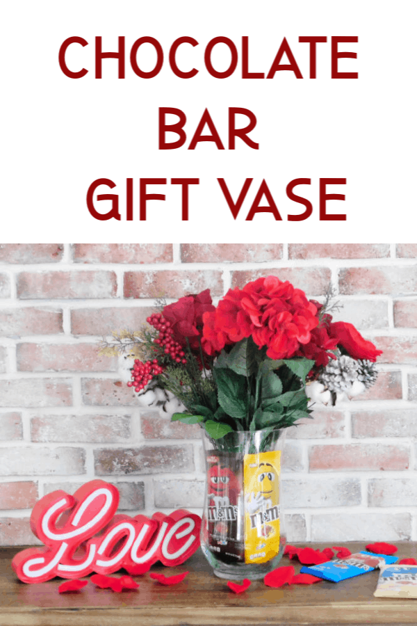 chocolate bar gift vase