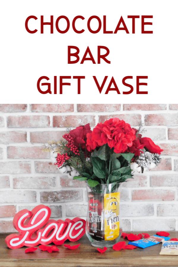 chocolate bar gift vase