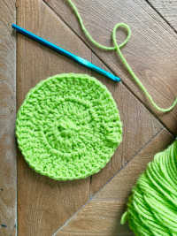 creating the pattern of the leprechaun cozy