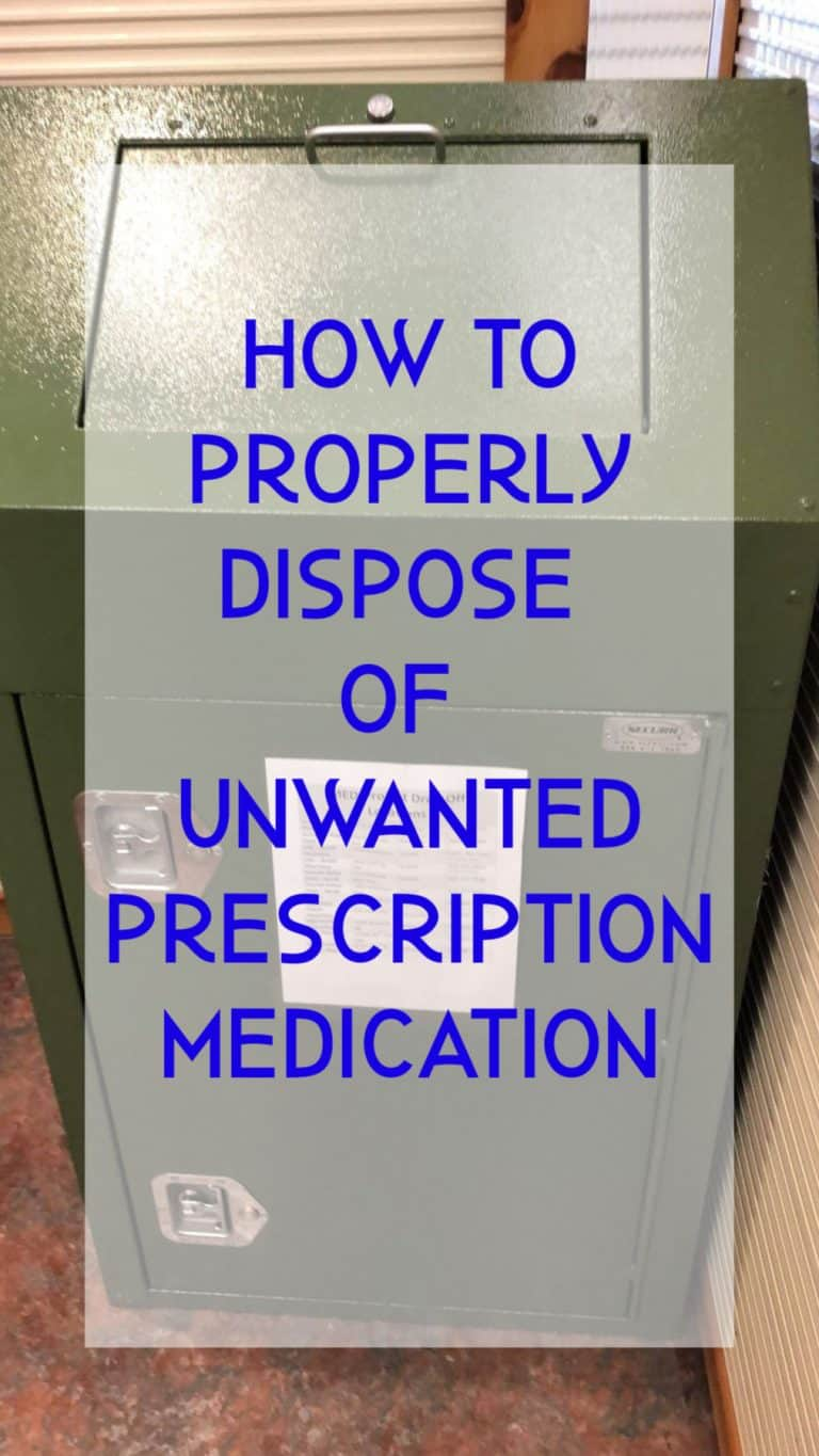 how to properly dispose of unwanted prescription medication