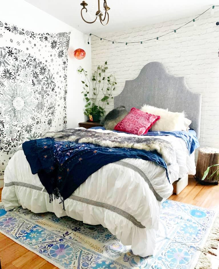 boho hygge bedroom after