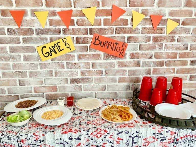 Burrito Bar party set up
