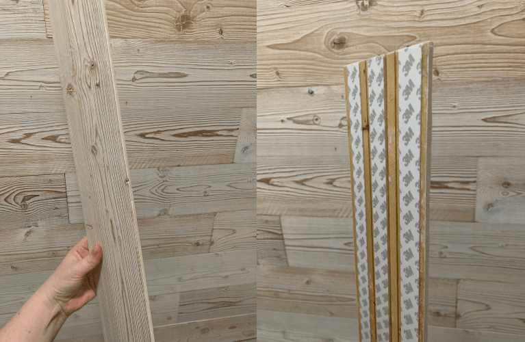 Faux Shiplap Peel and Stick Wood Plank Wall - Crafty Little
