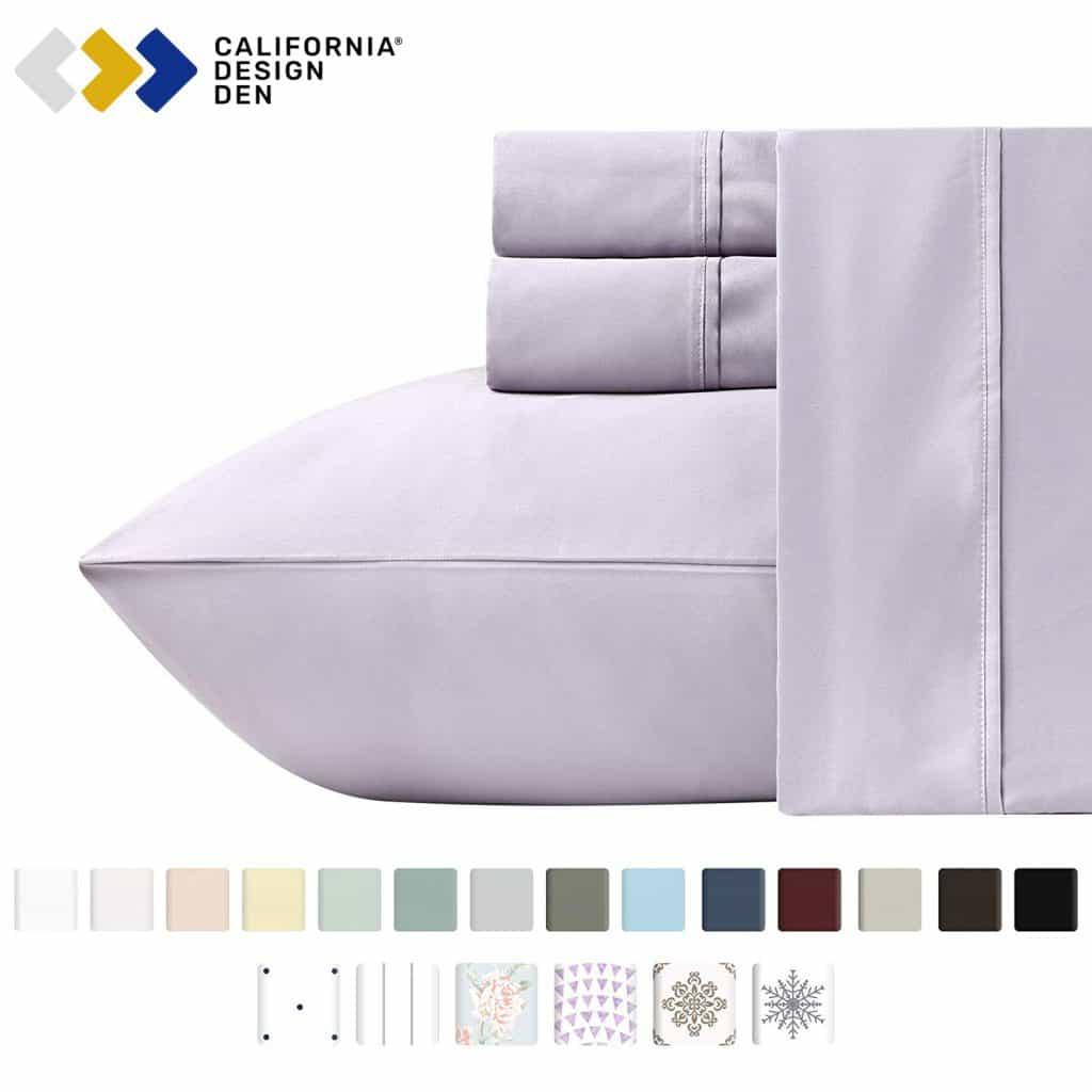 california design den sheet set