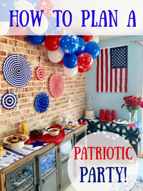 american themed party graphic