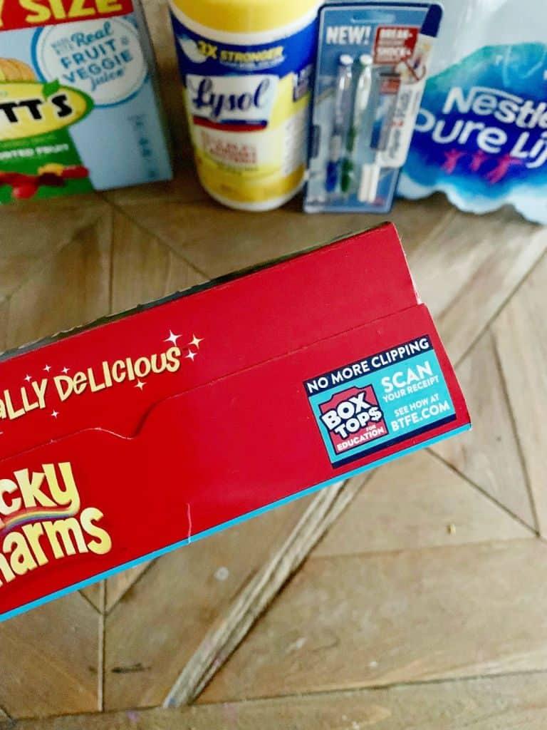 close up of box top coupon
