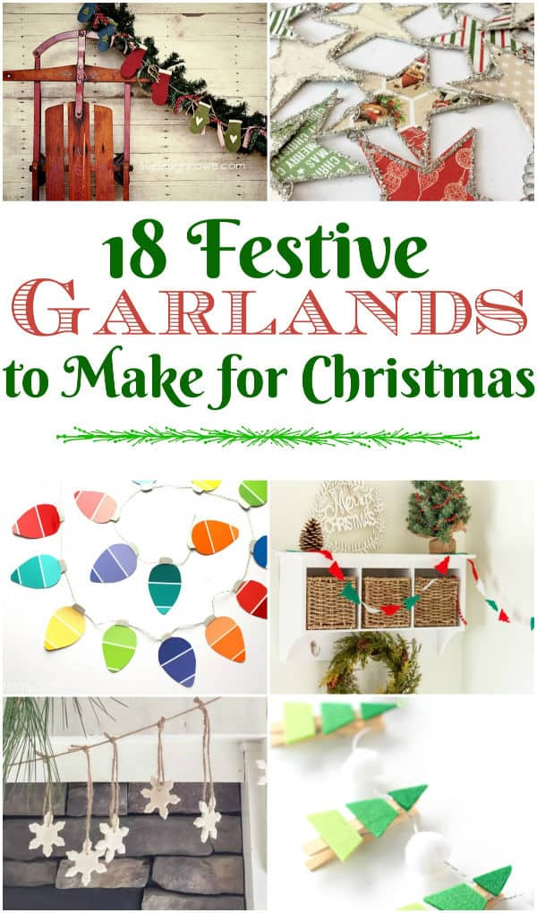 diy christmas garlands graphic