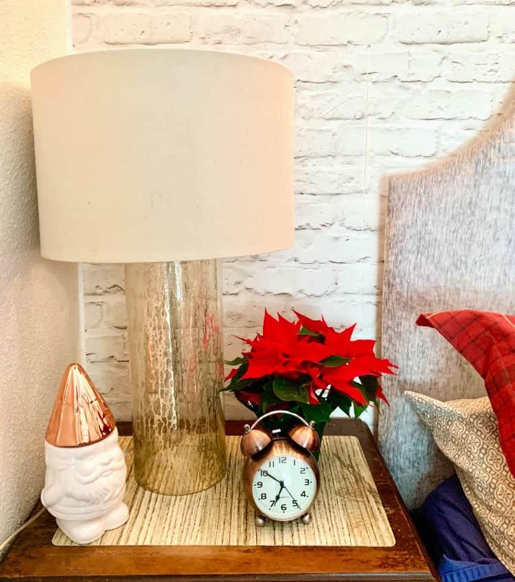 christmas themed bedside table