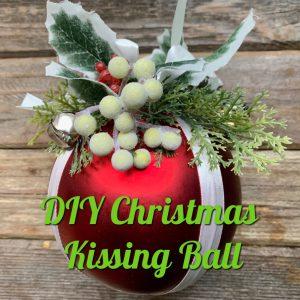 diy christmas kissing ball