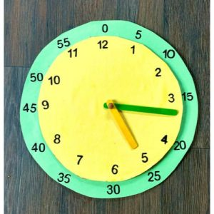 cardboard clock for school project