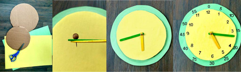 instructions for making a cardboard clock