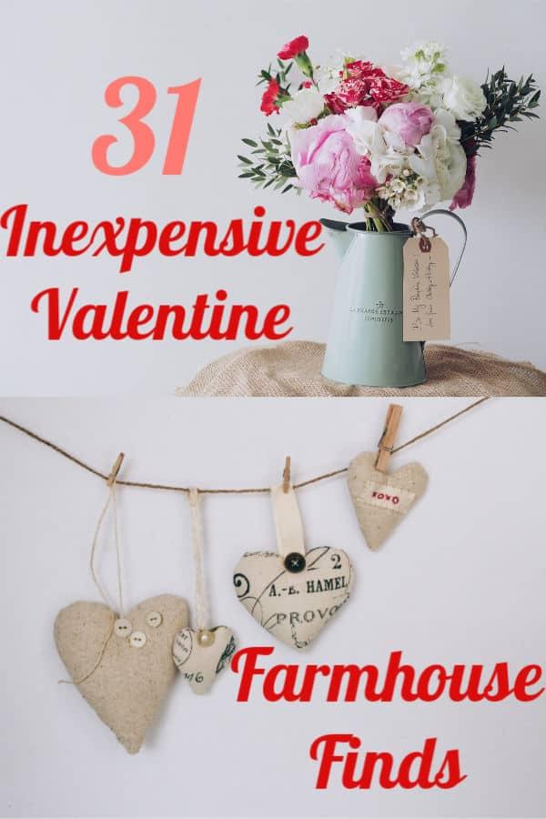 inexpensive farmhouse valentines day decor