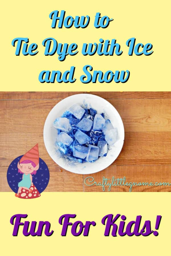 how to tie dye with ice and snow