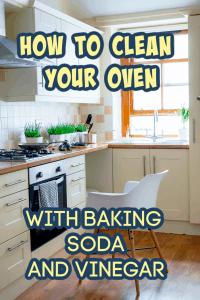 clean oven baking soda vinegar