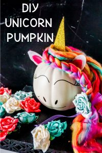 diy unicorn pumpkin