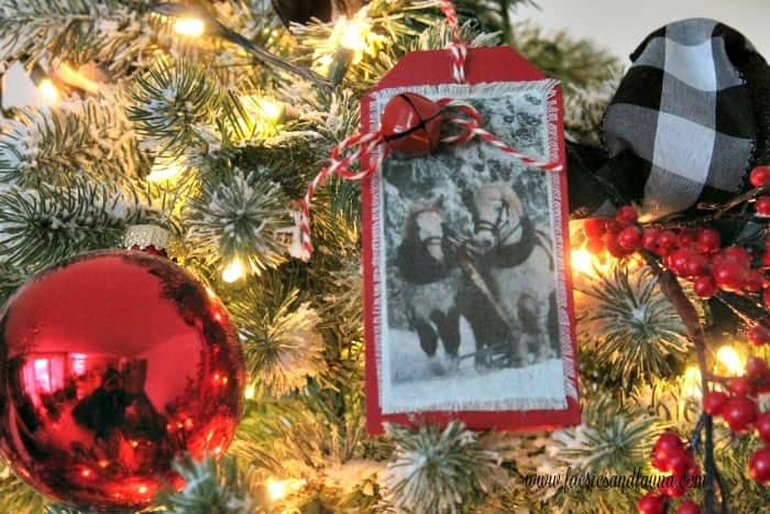 horse ornament on a tree