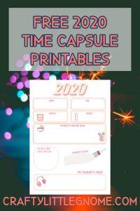 free time capsule printables pin image