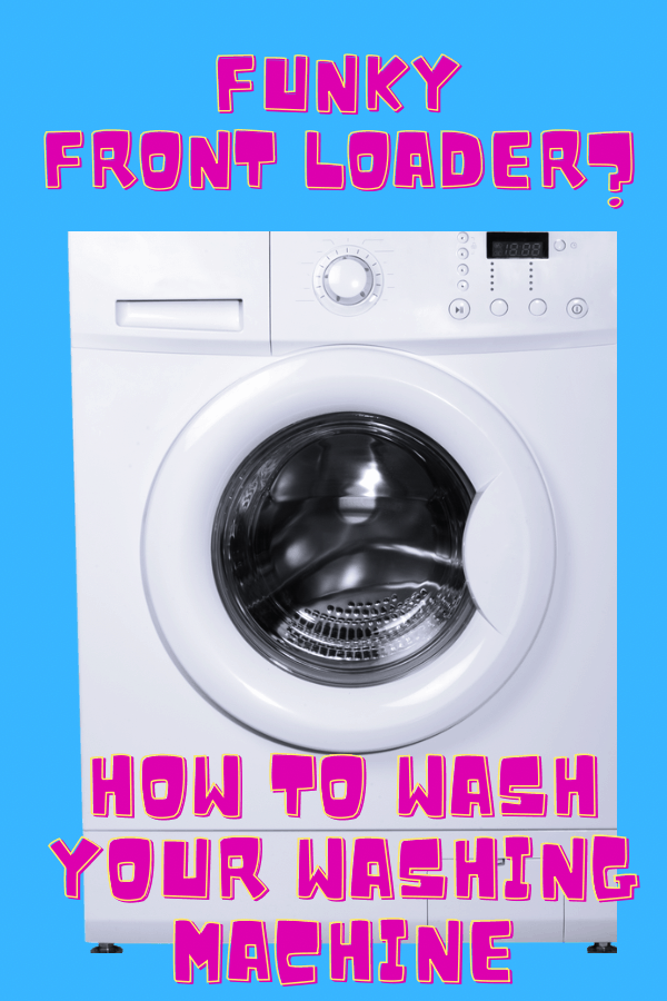 How to wash your front loader washing machine graphic